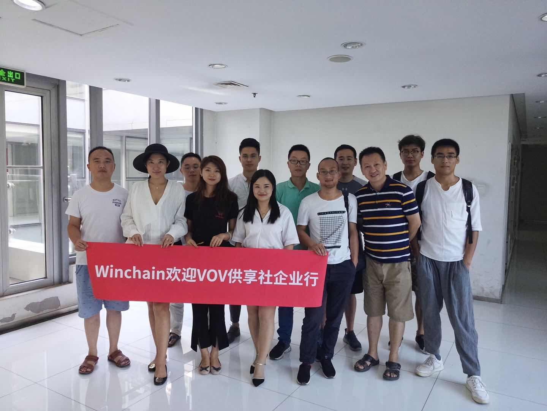 """供享社VOV企业行走访Winchain并举办""""寻找Lucky One""""活动"""
