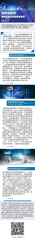 链界观链界   模块化的区块链操作系统——NULS