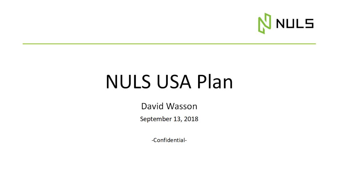 你好,David Wasson NULS美国地区负责人