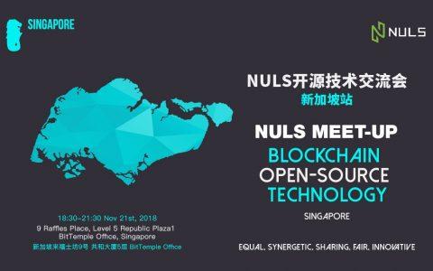 区块链公有链项目NULS将在新加坡举行开发者交流会,火热程度出乎预料