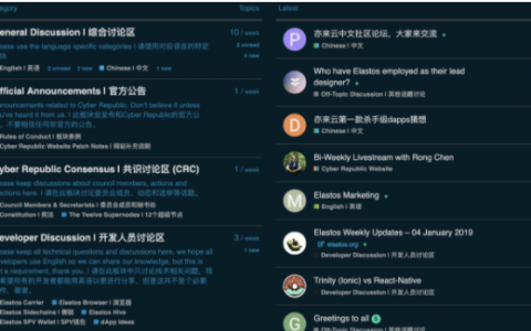 亦来云海外社区周报~2019年01月14日