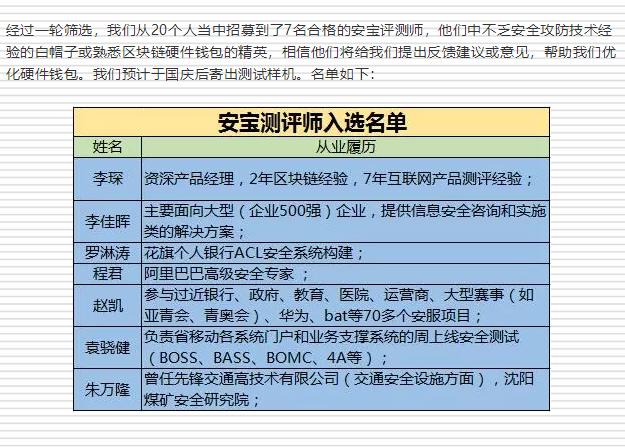 公告:安网3(SAFE)项目进展(第33期)