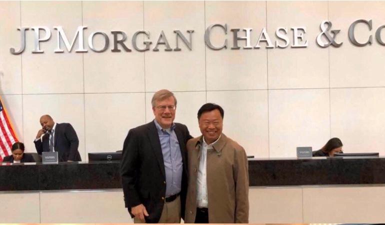 韩锋拜访摩根大通首席经济学家