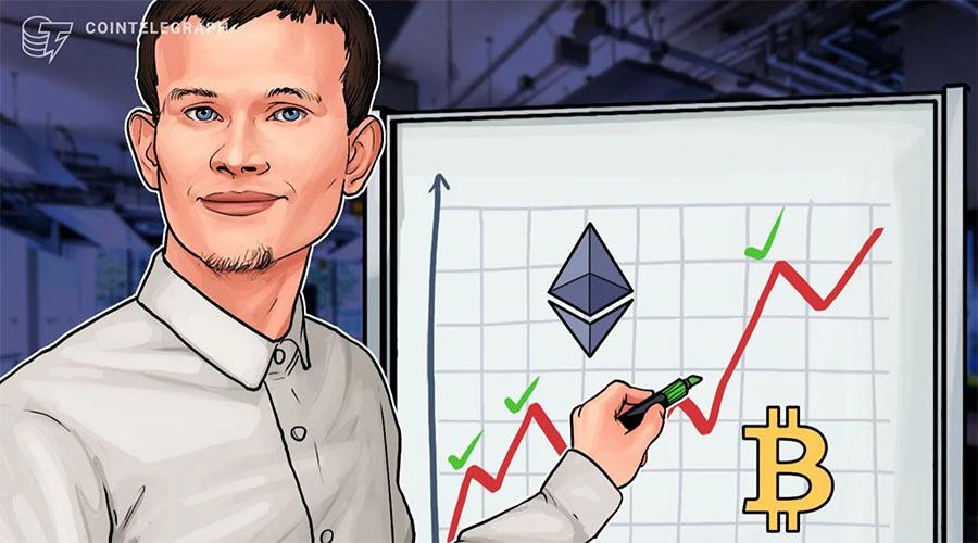 以太坊联合创始人Vitalik Buterin:ETH是BTC有限性能的解决方案