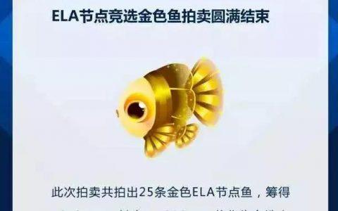 全网开放 ▏FishChain ELA活动三连发,庆祝参选Elastos超级节点募资成功