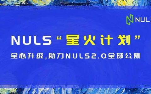 星火不灭∣星火计划全心升级,助力NULS2.0全球公测