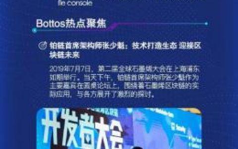 铂链进度周报2019.07.06-07.12