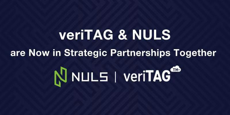 On August 26, VeriTAG has reached strategic cooperation with NULS at the Smart China Expo 2019