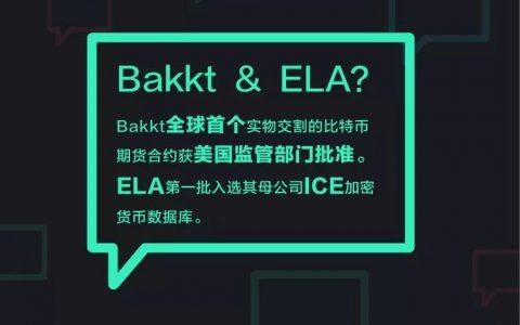 """2 YEAR ▏""""加密货币纽交所""""Bakkt 宣布获批,ELA第一批入选其母公司ICE加密货币数据库"""
