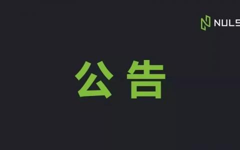 NULS2.0团队持有/社区基金/商务合作 主网地址公布