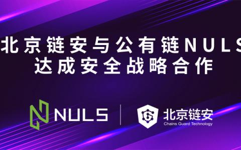 NULS与北京链安达成安全战略合作