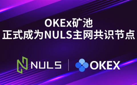 OKEx矿池正式成为NULS主网共识节点