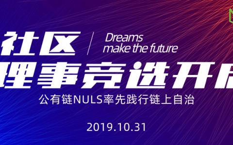 公有链NULS率先践行链上自治|NULS社区理事开启首次链上竞选