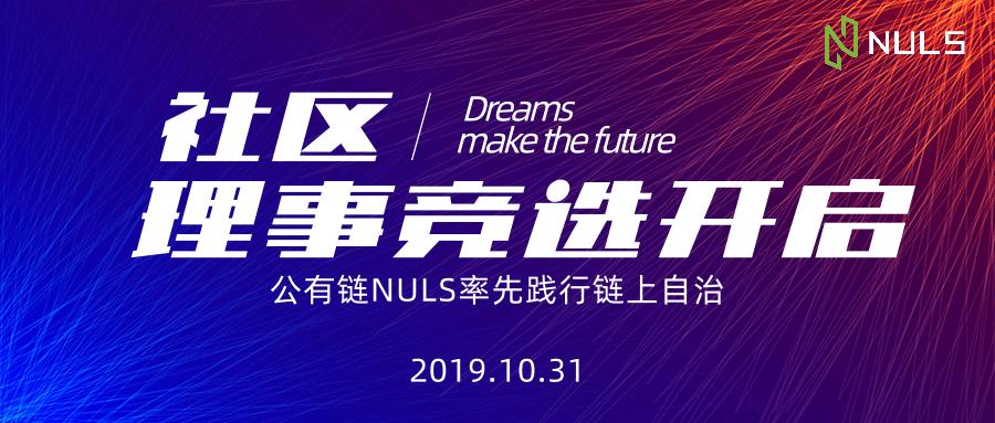 公有链NULS率先践行链上自治 NULS社区理事开启首次链上竞选