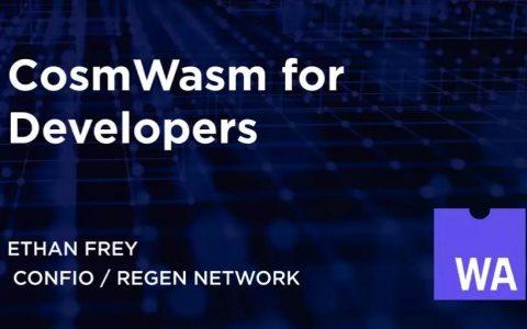 给开发者的 CosmWasm 介绍