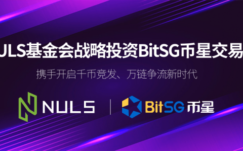 NULS基金会战略投资BitSG币星交易所,携手开启千币竞发、万链争流新时代