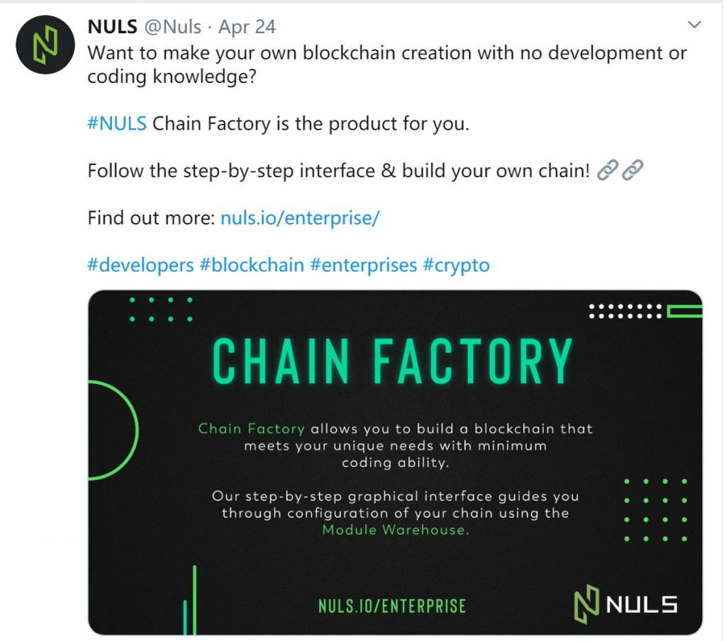 NULS项目4月下半月进度简报