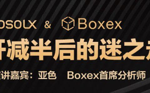 SOSOLX第11期AMA | BOXEX分析师亚色带你揭开减半后的迷之走势