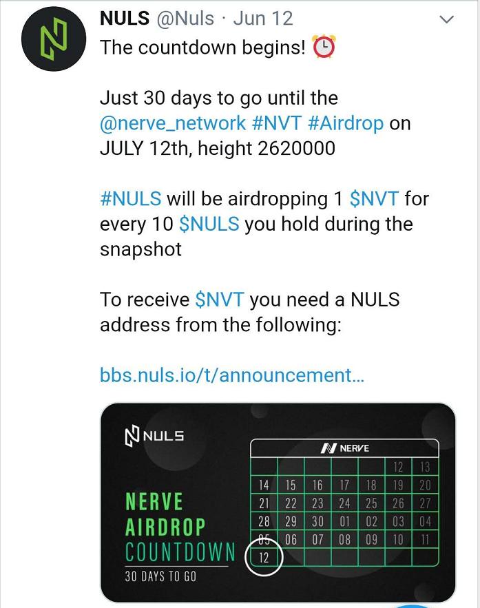 NULS项目6月上半月进度简报