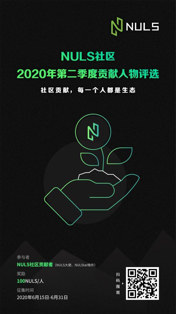 NULS社区2020年第二季度贡献人物评选