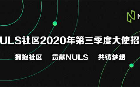 NULS社区2020年第三季度大使招募计划