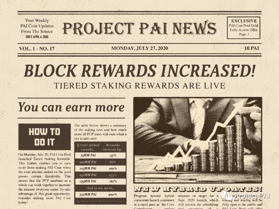 Project PAI 项目进度- 2020年7月27日