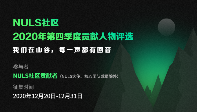 NULS社区2020年第四季度贡献人物评选