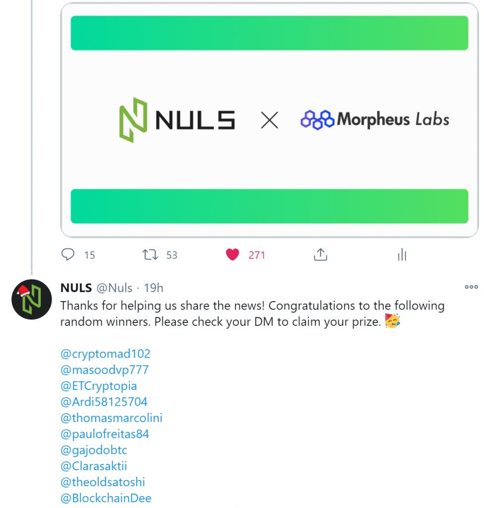 NULS社区2020年12月下半月简报|NULS轻钱包支持NFT资产管理