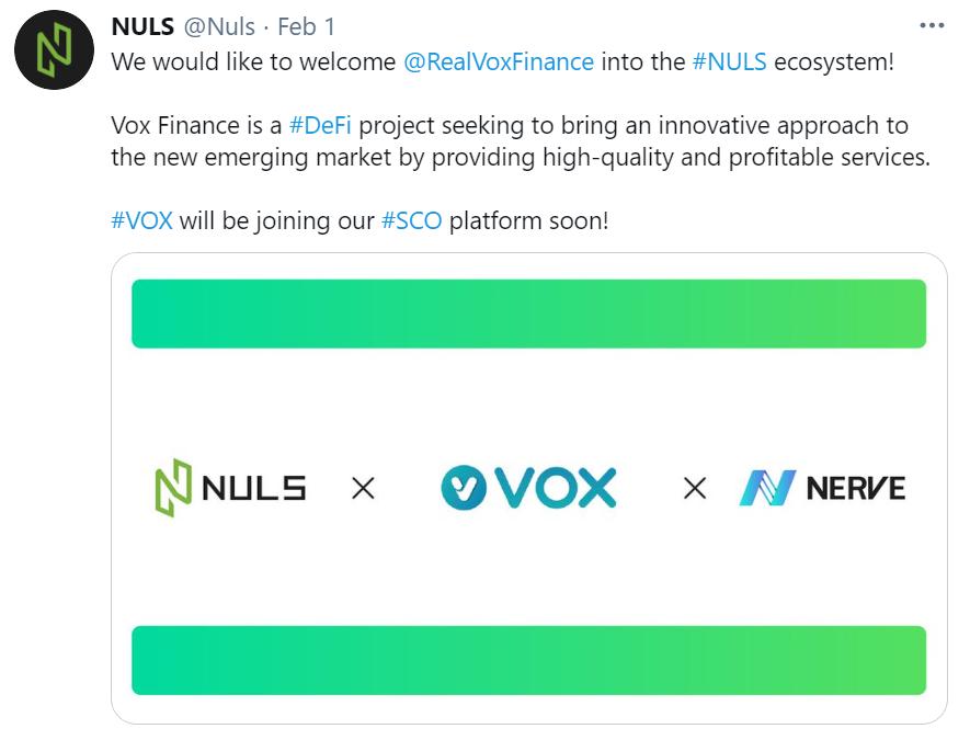 NULS社区2021年2月上半月简报 | NULS异构跨链生态Nerve支持BSC、Heco多资产无损挖矿和LP挖矿
