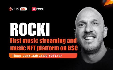 聚币Jubi LIVE | ROCKI-BSC链上首个音乐流+NFT平台
